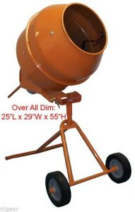 5 Cubic Feet Tall Drum Cement Concrete Mixer Portable