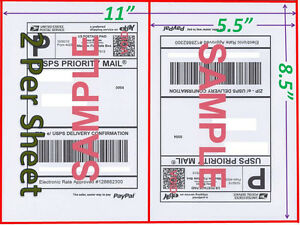 1500 Self Adhesive Shipping Blank Labels 8 5x5 5 Paypal