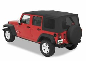 2010 2018 Jeep Wrangler Jk Unlimited Black Replacement Soft Top 51204 35