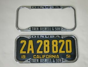 Ford Dealer License Plate Frames 1940 1955 California
