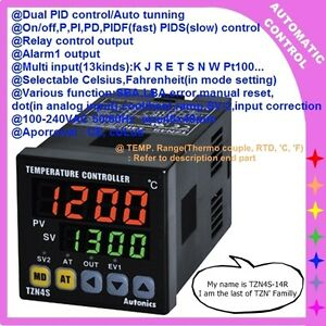 New Digital Dual Pid Temperature Controller Tzn4s 14r Relay 1alram Output