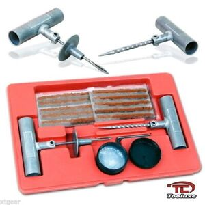 35 Pieces Quick Tire Repair Tool Kit W Case Plug Patch