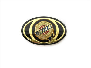 2005 2010 Chrysler 300 Town Country Grille Emblem Decal Gold Mopar Oe