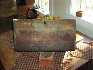 Vintage Wooden Box Massachusetts Breweries Company Registered An Early Box