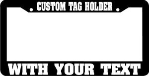 Tag Plate Bracket Custom Text Personalized Customized License Plate Frame
