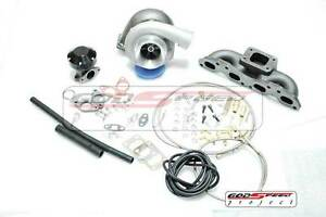 Gt35 T3 Top Mount Manifold Turbo Charger Kit For 240sx S13 S14 S15 Sr20