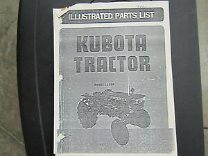 Kubota L260 Tractor Parts Book