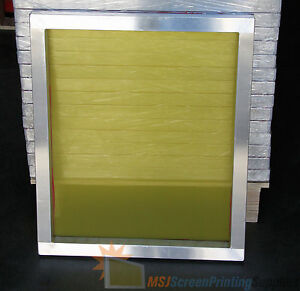 6 Pack 20 x24 196 Yellow Mesh Aluminum Silk Screen Printing Screens Frame