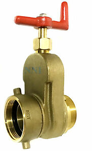 2 1 2 Hydrant Gate Valve Female Swivel Nst X Male Nst Rated 175 Psi Water