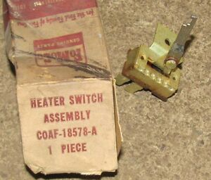 Nos 1960 60 Ford Heater Switch C0af 18578 A 61 62