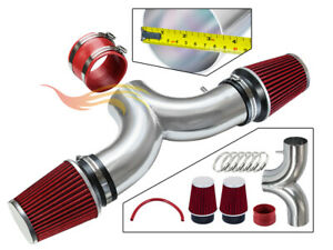 3 5 Red Dual Twin Air Intake Induction Kit Filter For 01 04 Corvette 5 7l V8