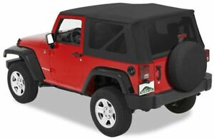 2007 2009 Jeep Wrangler Jk 2 Door Black Replacement Soft Top