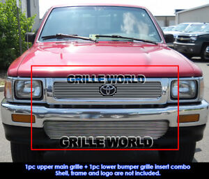 Fits 1992 1994 Toyota Pickup Truck 4wd Billet Grille Combo