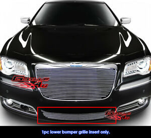 Fits 2011 2014 Chrysler 300 300c Lower Bumper Billet Grille Insert