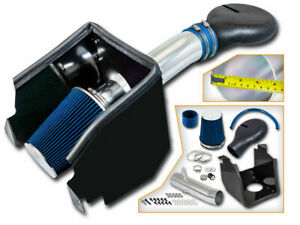 Cold Heat Shield Air Intake Blue Filter For 94 01 Ram 1500 Pickup 5 2l 5 9l V8