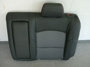 Mazda 3 Black Leather Cloth Left Rear Seat Back 2007 2009