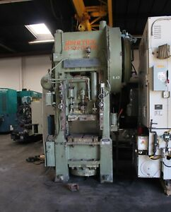 100 Ton Minster Punch Press Straight Side Single Crank Bed 24x30 5 stroke 37spm