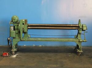 Wysong Power Sheet Metal Roll 14 Ga X 6 Metal Bender Roller Initial Pinch