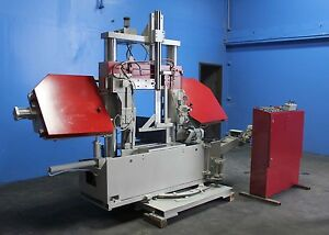 16 X 27 5 Behringer Semi automatic Horizontal Bandsaw