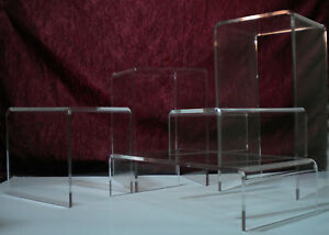 Assorted Acrylic 5 piece Riser Set Durable 1 4 Thick