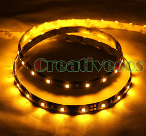 2x 90cm 36 1210 Smd 12v Car Waterproof Flexible Led Strip Light Orange Amber