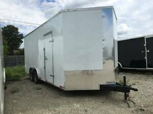 2018 Enclosed Trailer 85x24 3 V Nose 7 Ft Tall Cargo Trailer Texas Built Cargo