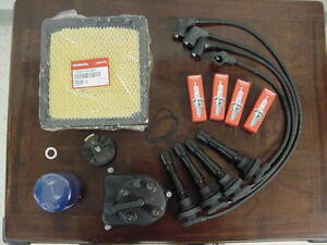 Genuine Honda Oem 97 01 Crv Tune Up Kit Cap Rotor Plugs Wires Air oil Filter
