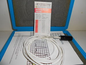 Good Used Carolina Medical Blood Flow Probe Ep413 Pv Connector 13mm Circle