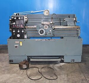 14 21 Swing X 40 Center Morton Engine Lathe Metal Turning Machine Taper Attac