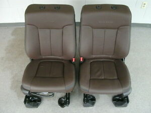 Ford F 150 Platinum Edition Brown Leather Front Seats Heated cooled