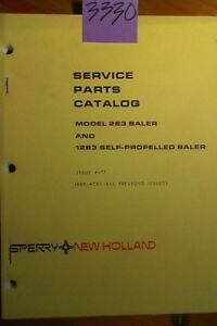 New Holland 283 1283 Self propelled Baler Service Parts Catalog Manual 4 77