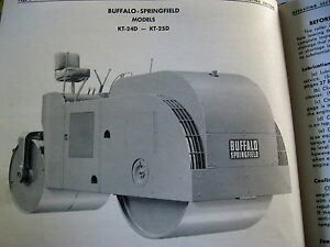 Buffalo springfield Kt 24d Kt 25d Asphalt Road Roller Service Parts Manual