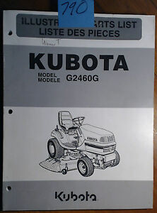 Kubota G2460g Lawn Tractor Illustrated Parts List Manual 97898 41330 5 01