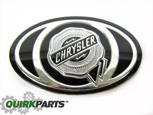 2005 2010 Chrysler 300 S Grille Emblem Decal Badge Silver Black Mopar Oem New