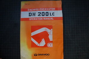 Daewoo Dh200 Excavator Operation operator Maintenance Manual Guide Book Oem Shop