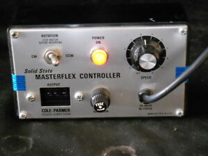 Cole Parmer Masterflex Solid State Peristaltic Pump Controller