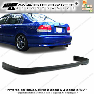 96 98 Honda Civic 2d 2dr Coupe Jdm Rear Pu Lip Polyurethane