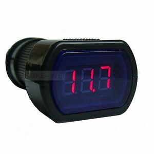 New Mini Car Lcd Battery Voltage Meter Monitor 12v