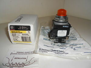 Nos Ge General Electric Pushbutton Switch Cr104plt22m