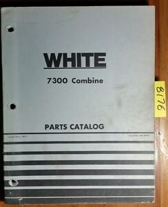 Wfe White Oliver Cockshutt 7300 Combine Parts Catalog Manual 448 069a 4 77