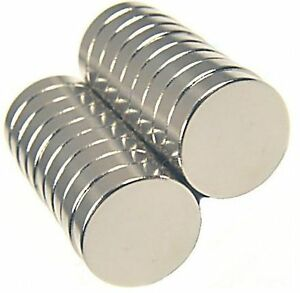 100 Extra Large Rare Earth Neodymium Magnets 1 2 X 1 8 Inch Round Bottle Cap