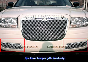 Aps Fits 2005 2010 Chrysler 300 Stainless Steel Bumper 2 5mm Mesh Grille Insert