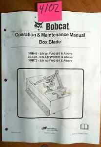 Bobcat Box Blade 3bb48 3bb60 3bb72 Operation Maintenance Manual 6904724 3 06