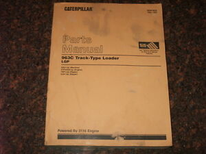 Cat Caterpillar 963c Lgp Track Loader Parts Manual S n 2ds1 up
