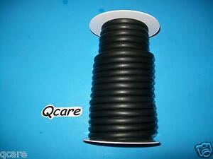 50 Feet Black Rubber Latex Tubing 1 4 id 3 8 od Surgical 50ft Reel 1 16 Wall