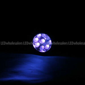 Wholesale 400nm Uv Ultra Violet 9 led 3xaaa Blacklight Flashlight 12 pack