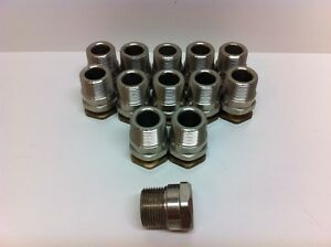 Lot 13 Nos Peppers Cable Glands Gu15 3bt W Brass Inserts 1 npt