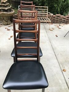 Danish Rosewood J L Moller Dining Chairs Model 78
