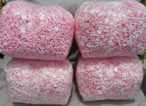 Pink 14 Cu Ft Popcorn Anti Static Packing Peanuts New Clean Free Ship Pink