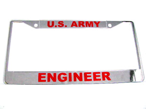 License Plate Frame us Army Engineer chrome 811070